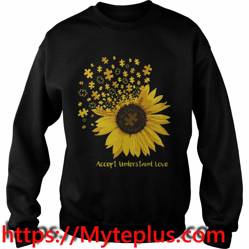 Autism sunflower accept understand love Sweater