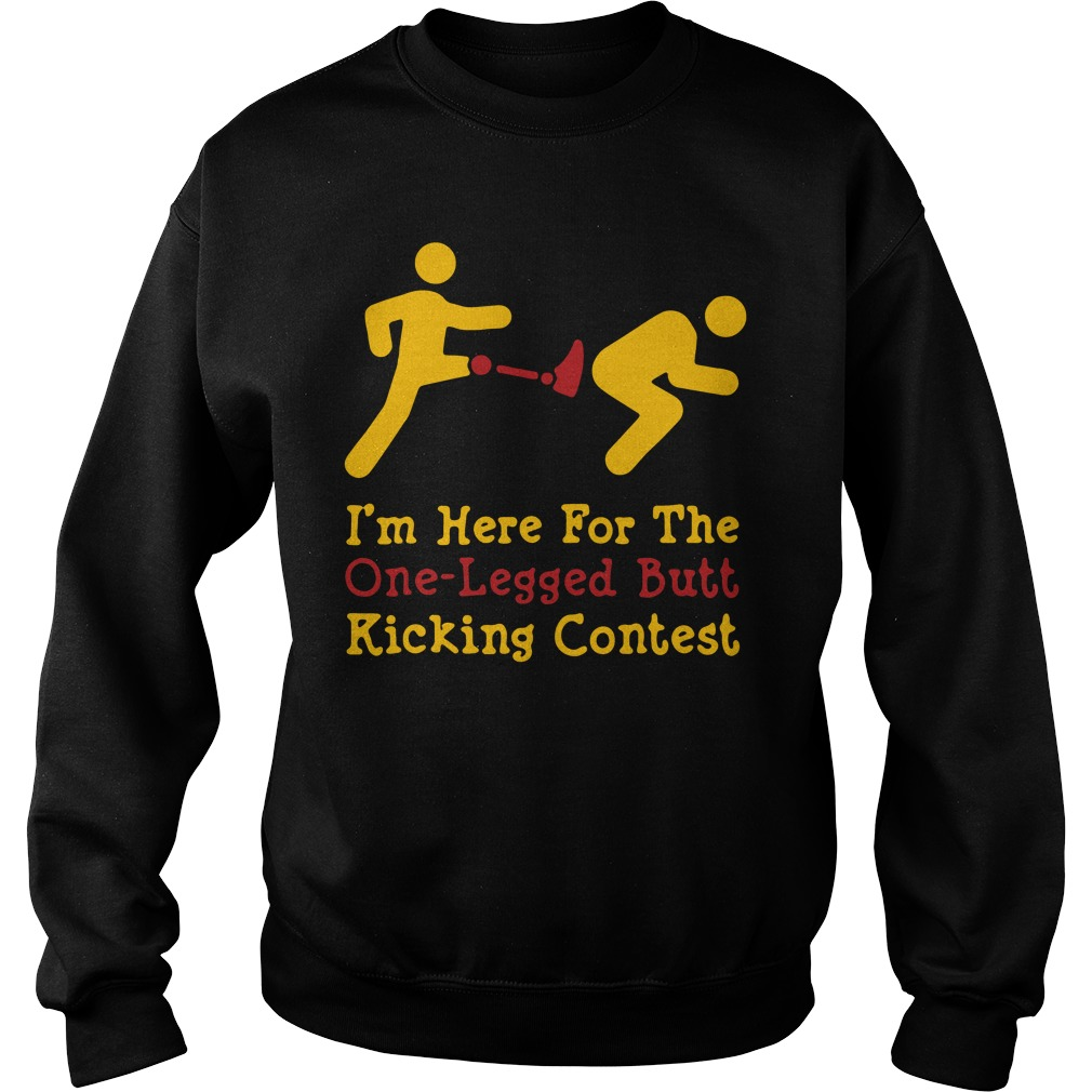 I'm here for the one-legged butt kicking contest sweater