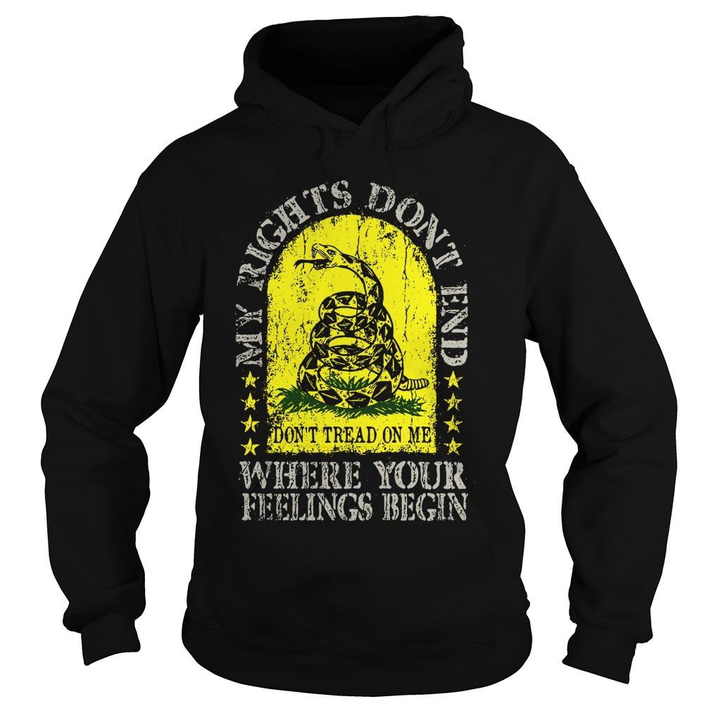 My rights don't end where your feelings begin hoodie