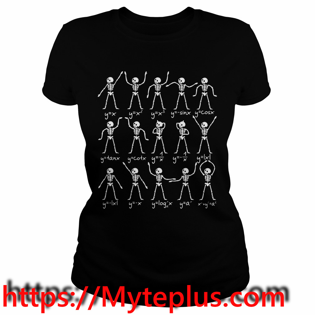 Skeletons Math Ladies tee