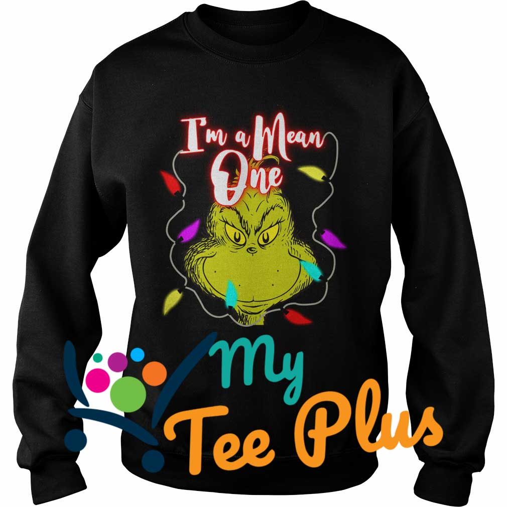 The Grinch I'm a mean one Christmas light Sweater