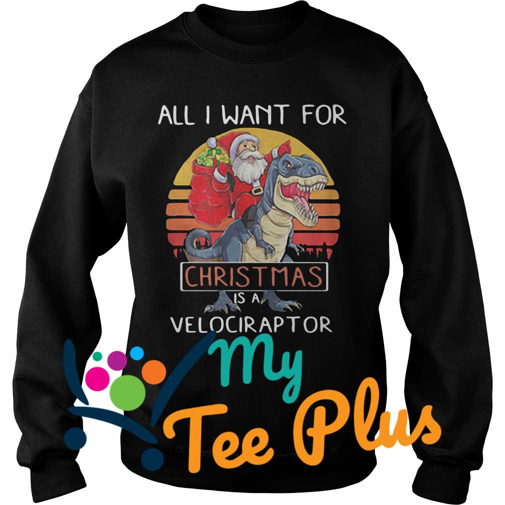 All I want Christmas is a Velociraptor Sweater
