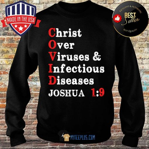 Christ over viruses and infectious diseases Joshua 1:9 Covid 19 s Sweater