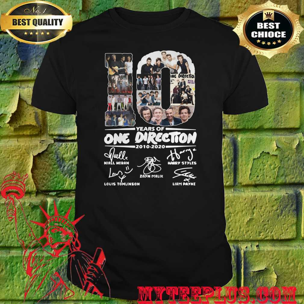 10 years of One Direction thank you for the memories signatures shirt