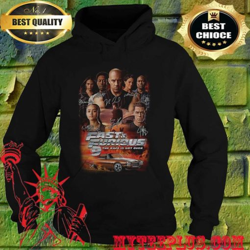 Fast and furious 9 the race is not over car characters signatures hoodie