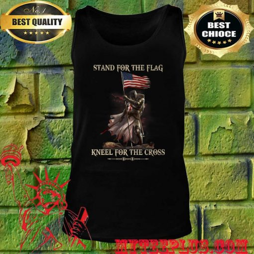 Stand For The Flag Kneel For The Cross Knight Templar tank top
