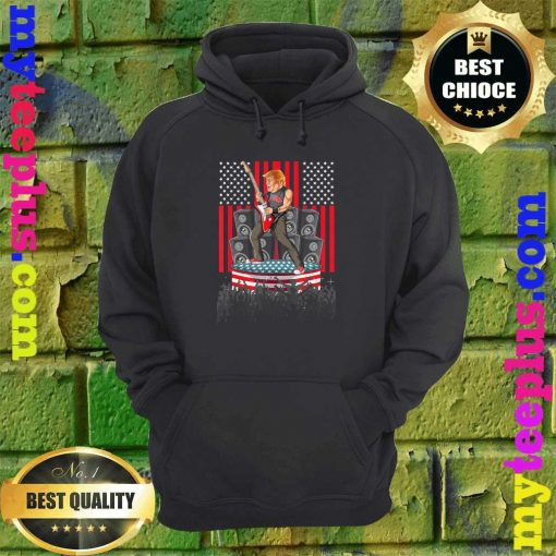 Guitar USA Flag Men Women Guitarist Trump hoodie