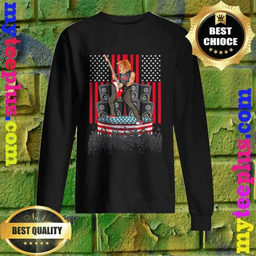 Guitar USA Flag Men Women Guitarist Trump Sweatshirt