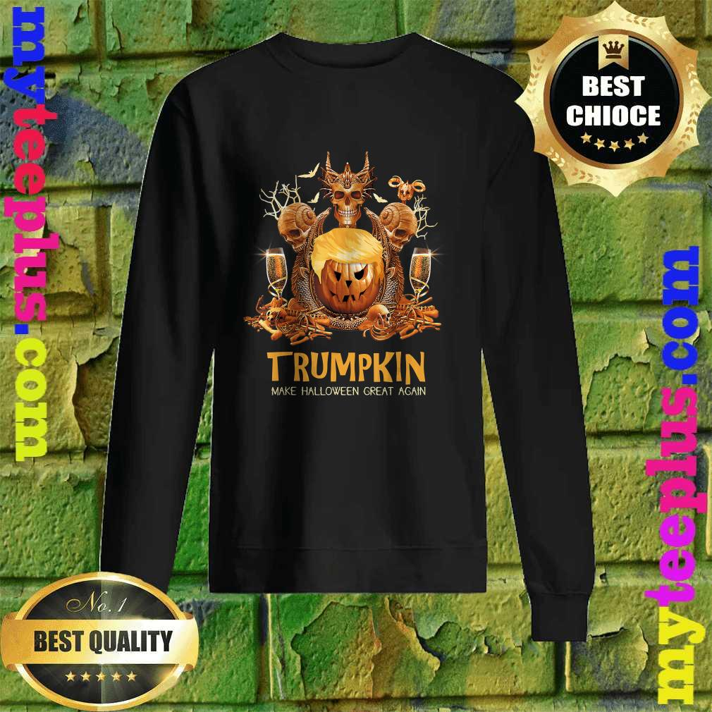 Halloween Trumpkin Make USA Great Again Funny Donald Trump Sweatshirt