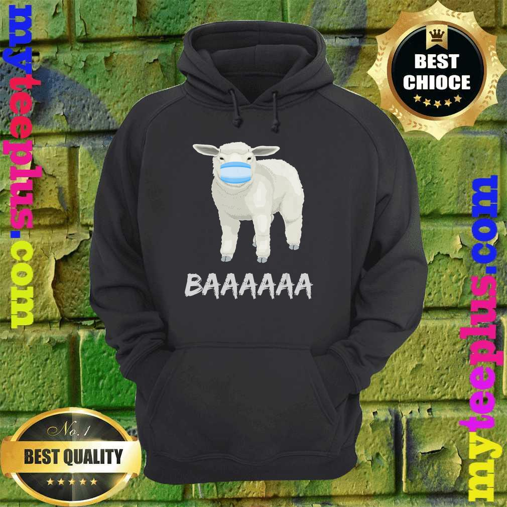 Anti mask sheep with face mask hoodie
