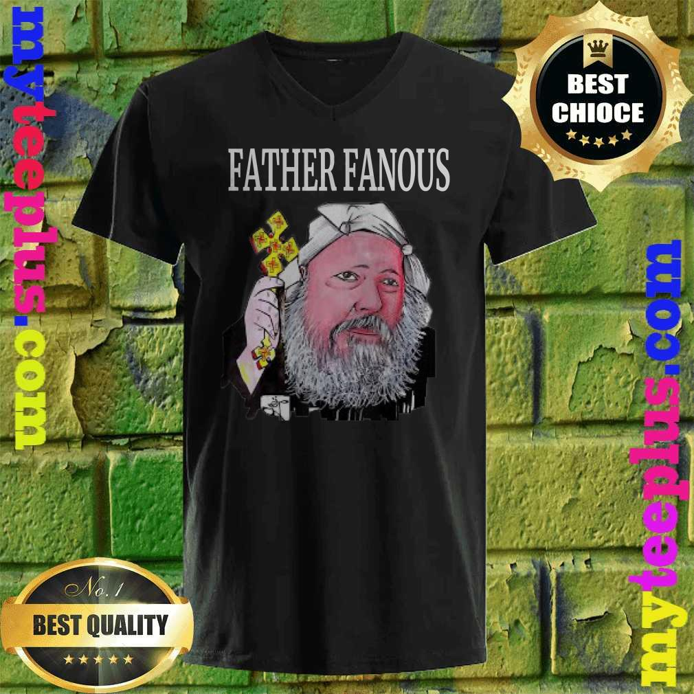 Father Fanous Christian cross man v neck