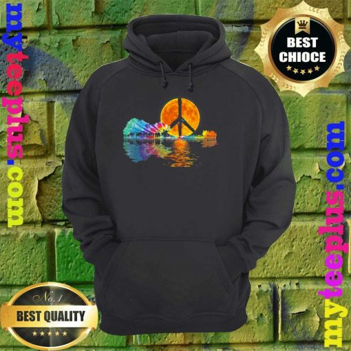Guitar Lake Shadow Peace Love Guitar Hippie hoodie