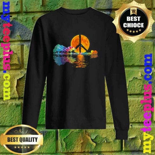 Guitar Lake Shadow Peace Love Guitar Hippie Sweatshirt