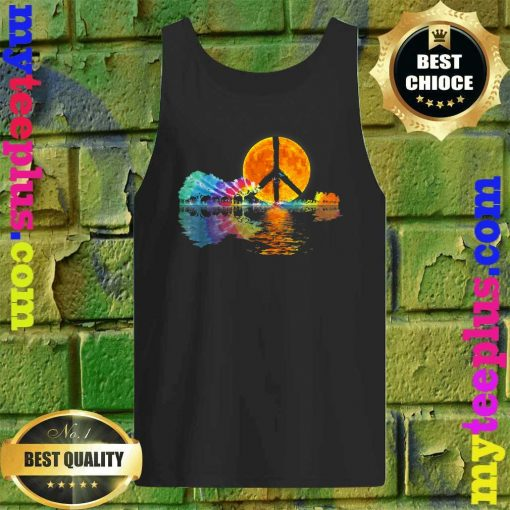 Guitar Lake Shadow Peace Love Guitar Hippie Tank top