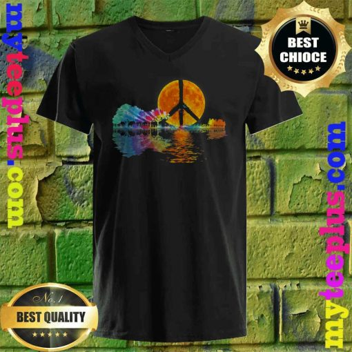 Guitar Lake Shadow Peace Love Guitar Hippie v neck