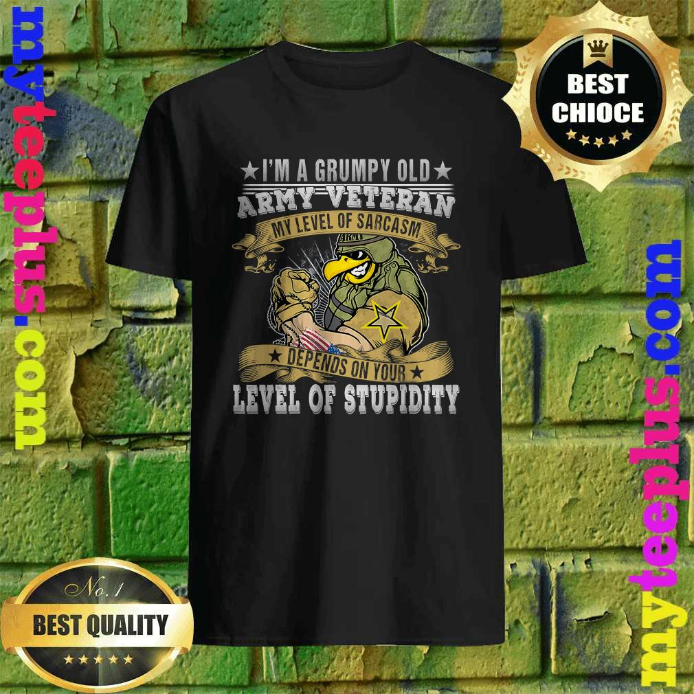 I'm A Grumpy Old Army Veteran Soldiers Military T-Shirt
