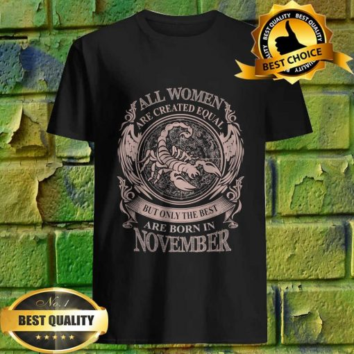 All Women Are Created Equal But Only The Best Are Born In November Fitted T-Shirt