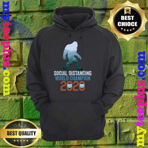 Bigfoot Social Distancing World Champion Funny Sasquatch hoodie