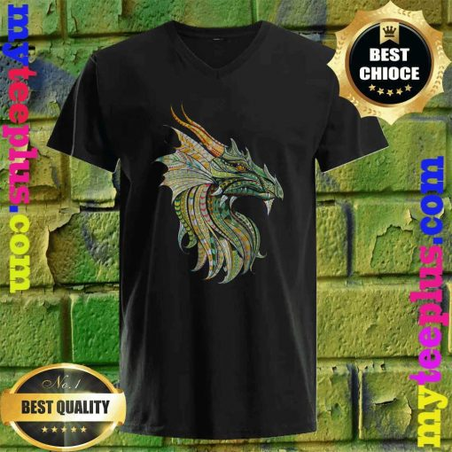 Celtic Dragon - Norse Mythological Dragon v neck