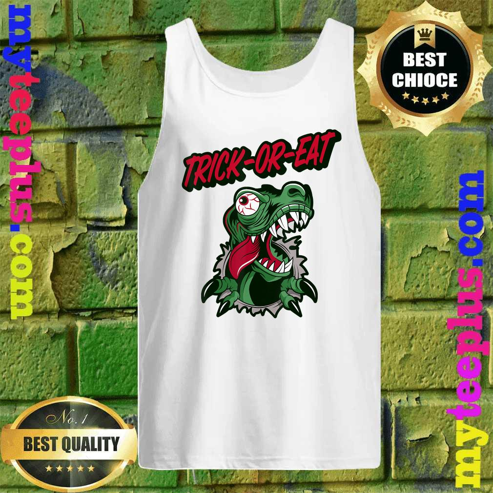 Tmnt 2020 Halloween Trick Or Treat Official] Dinosaur Trick or Treat Halloween 2020 T Rex T Shirt