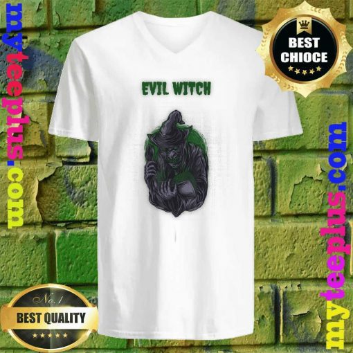 Evil Witch Simple Halloween v neck