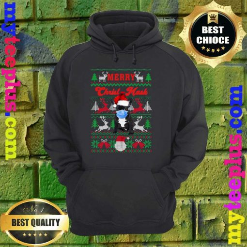 French Bulldog Merry Christ-Mask Ugly Christmas hoodie