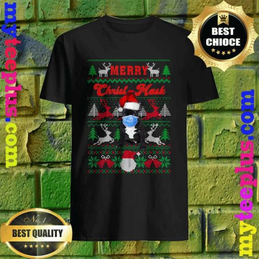 French Bulldog Merry Christ-Mask Ugly Christmas T-Shirt