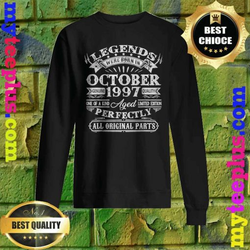 Legends Were Born In October 1997 23rd Birthday Sweatshirt