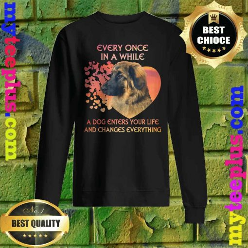 Leonberger heart every once in a while a dog enters you life and changes every thing sweatshirt