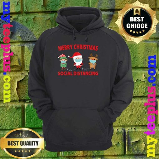 Merry Christmas 2020 Xmas day Social Distancing hoodie