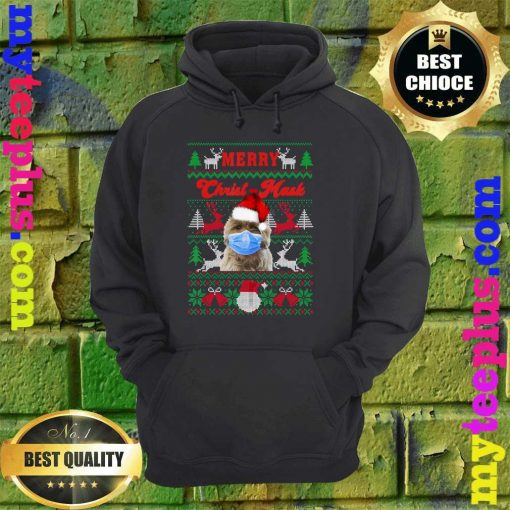 Norwich Terrier Merry Christ-Mask Ugly Christmas Sweaters hoodie
