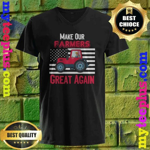 Official Make Our Farmers Great Again v neck