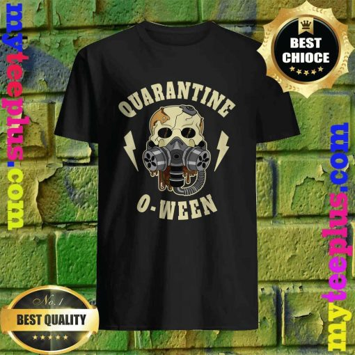 Quarantine O Ween Halloween Skeleton Mask Skull Gift T-Shirt