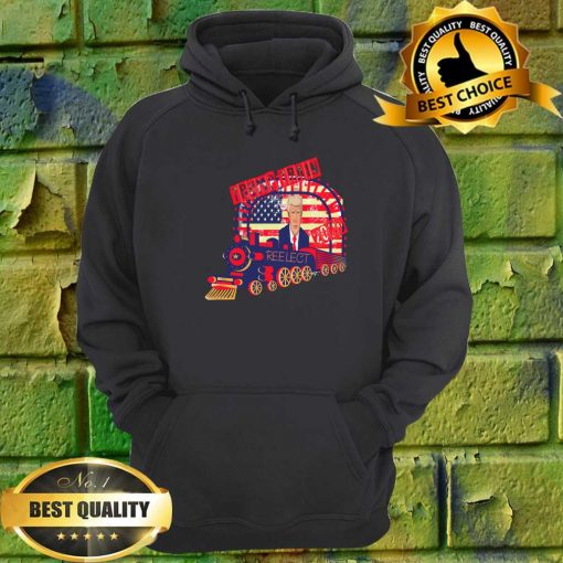 TRUMP TRAIN Reelect America Flag hoodie
