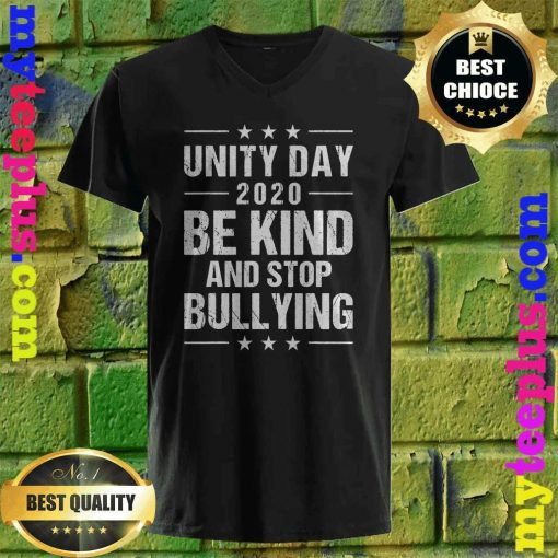 Unity Day Orange Shirt Men Kids Be Kind And Stop Bullying v neck