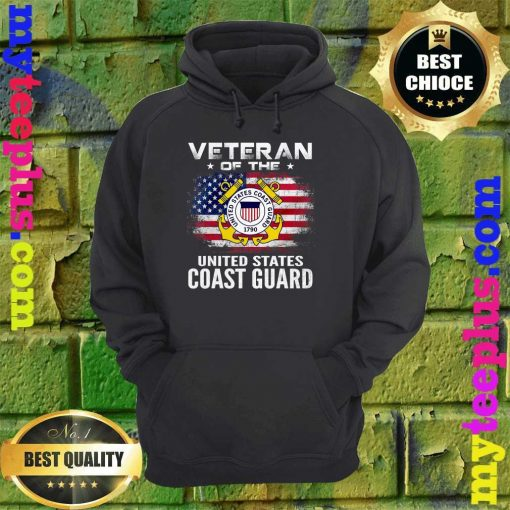 Veteran Of The United States Coast Guard With American Flag hoodie