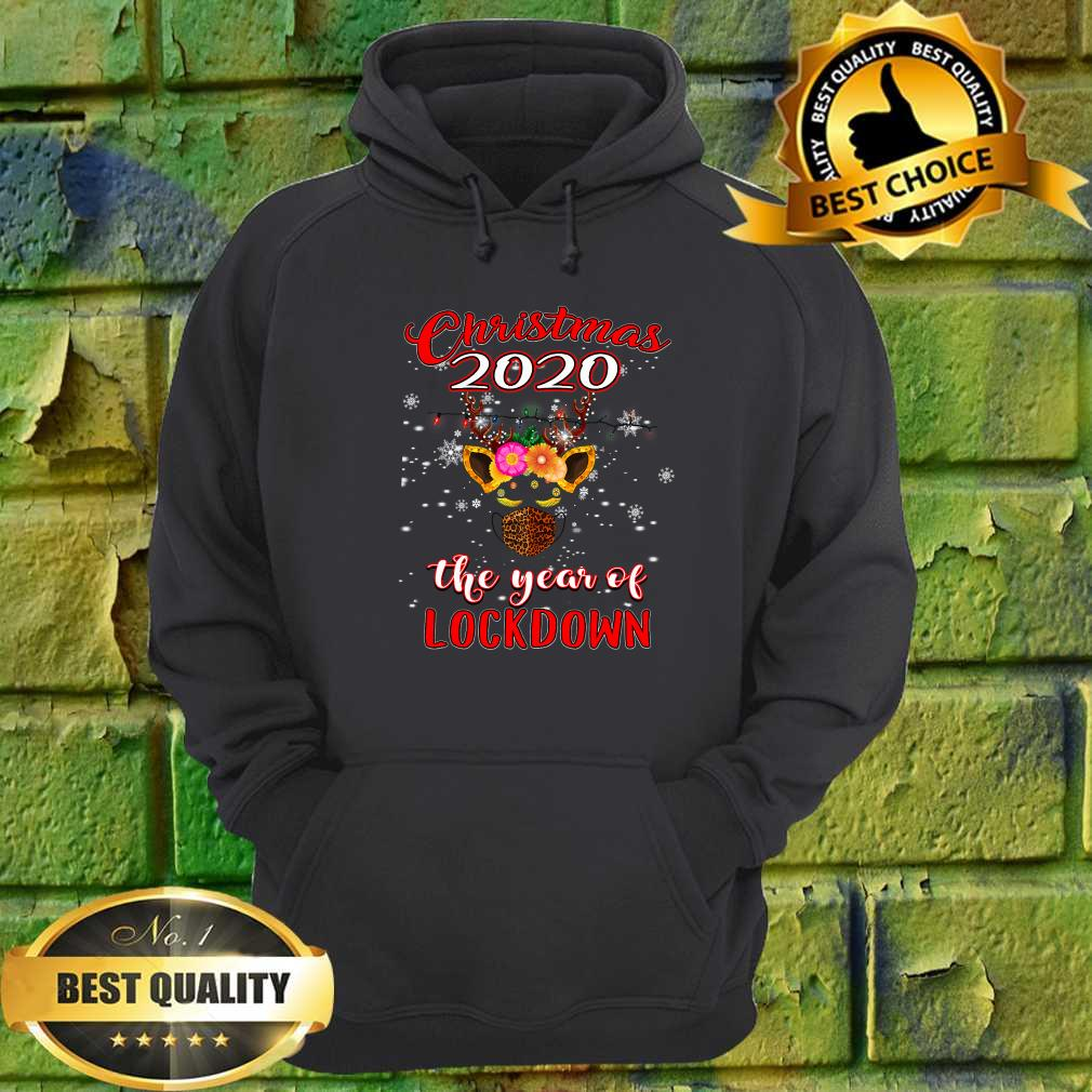 2020 Christmas Quarantine Shirt Reindeer Year Of Lockdown hoodie