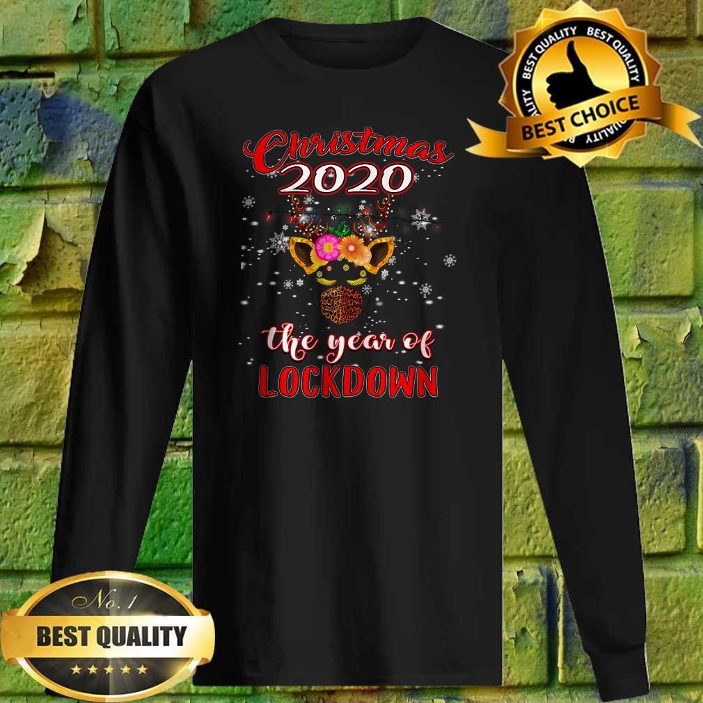 2020 Christmas Quarantine Shirt Reindeer Year Of Lockdown Sweatshirt