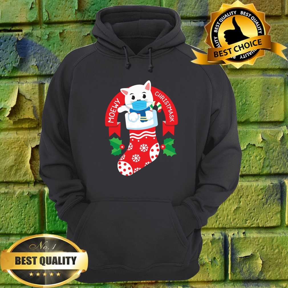 Cute Cat Face Mask Funny Christmas Stocking hoodie