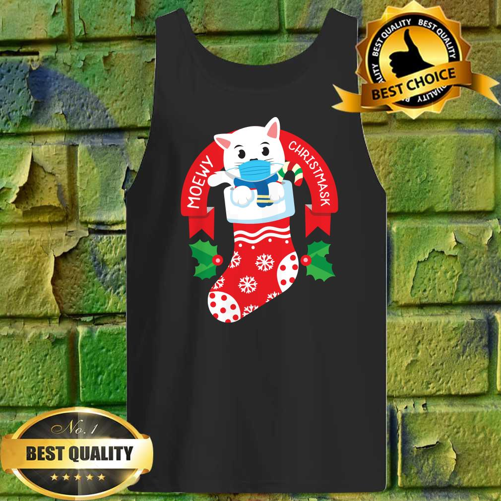 Cute Cat Face Mask Funny Christmas Stocking Tank top