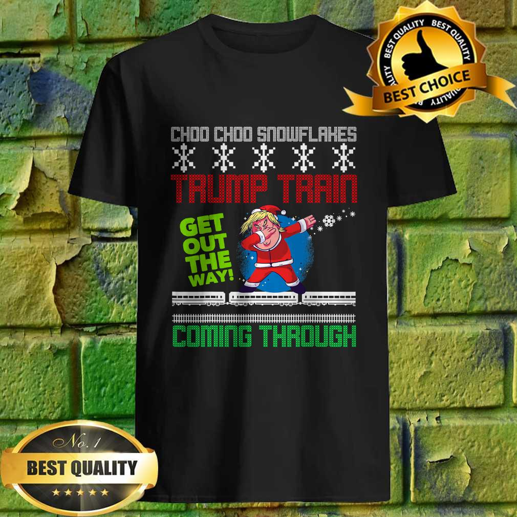 Funny Christmas Trump Train get out the way coming through T-Shirt