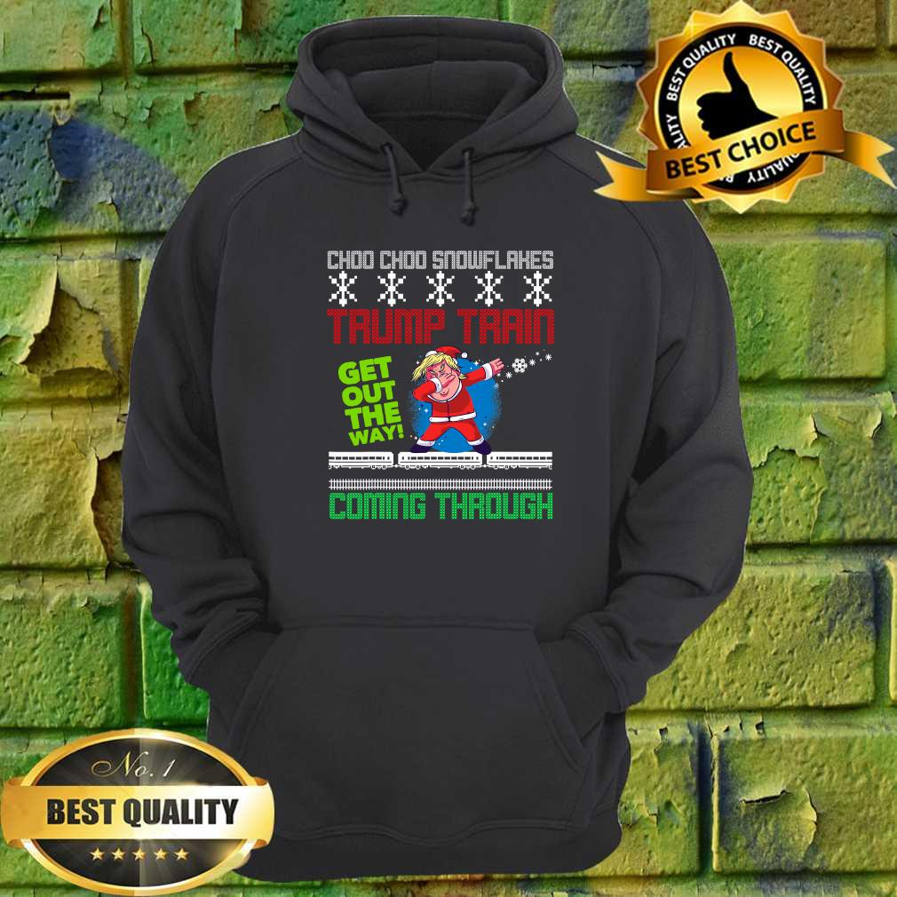 Funny Christmas Trump Train get out the way coming throug hoodie