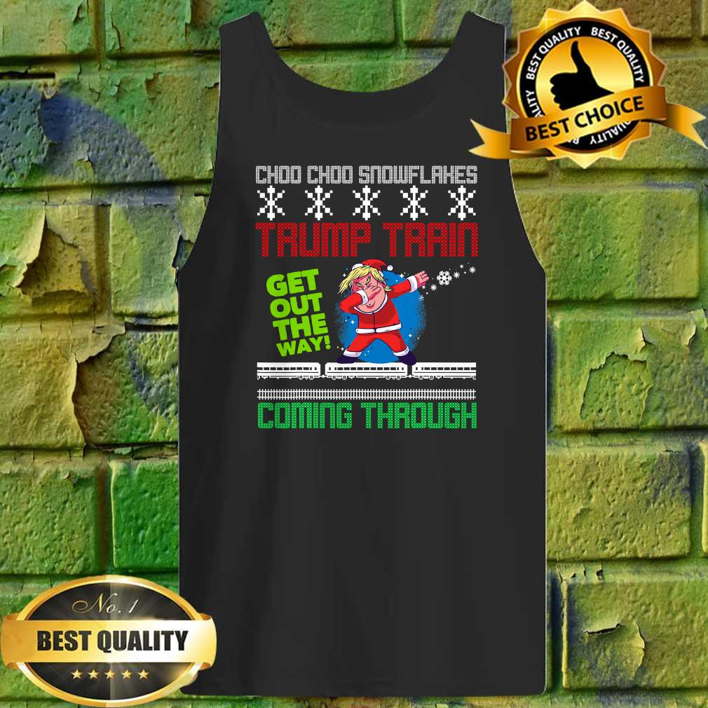 Funny Christmas Trump Train get out the way coming through Tank top