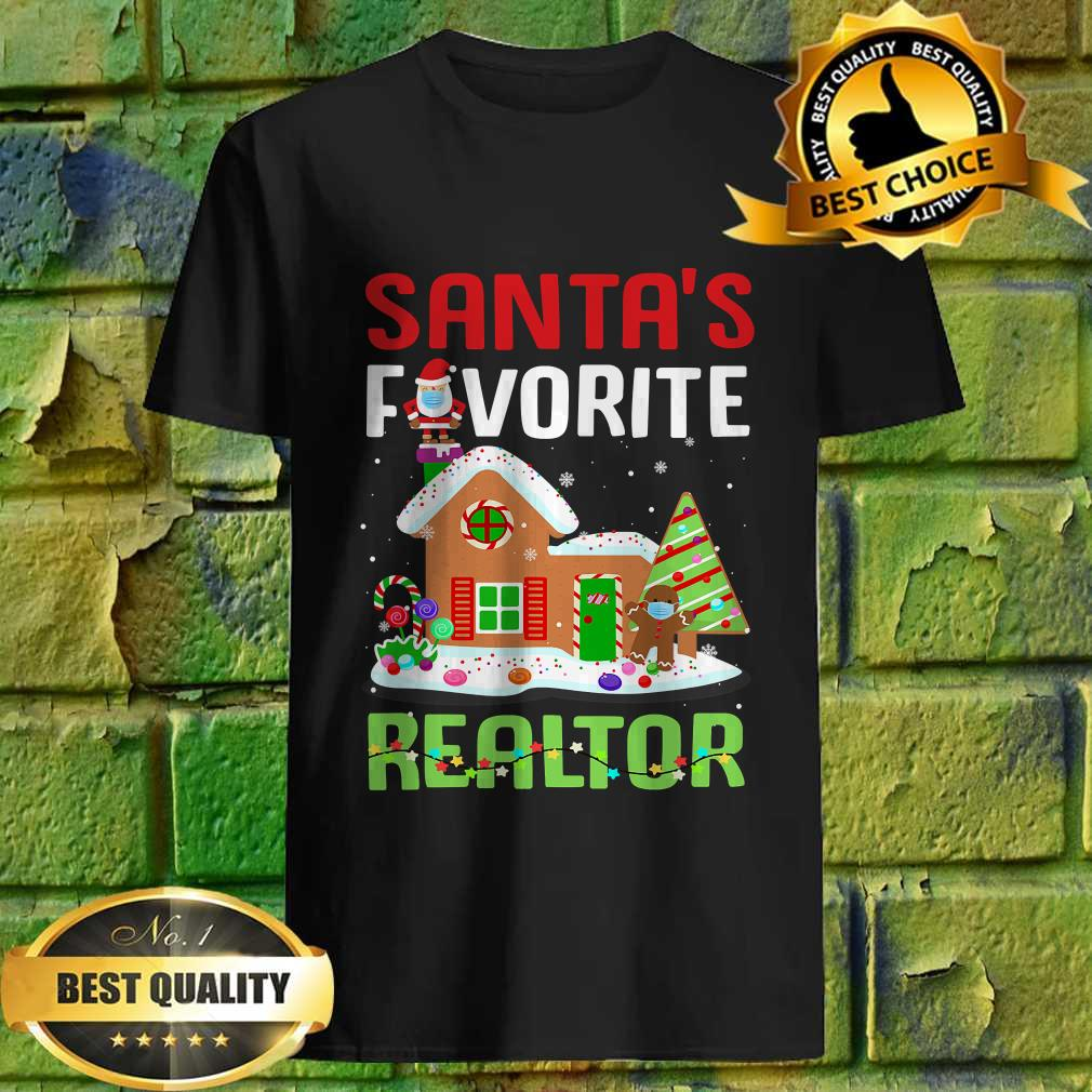 Funny Santa's Favorite Realtor Estate Agent Christmas Gift T-Shirt
