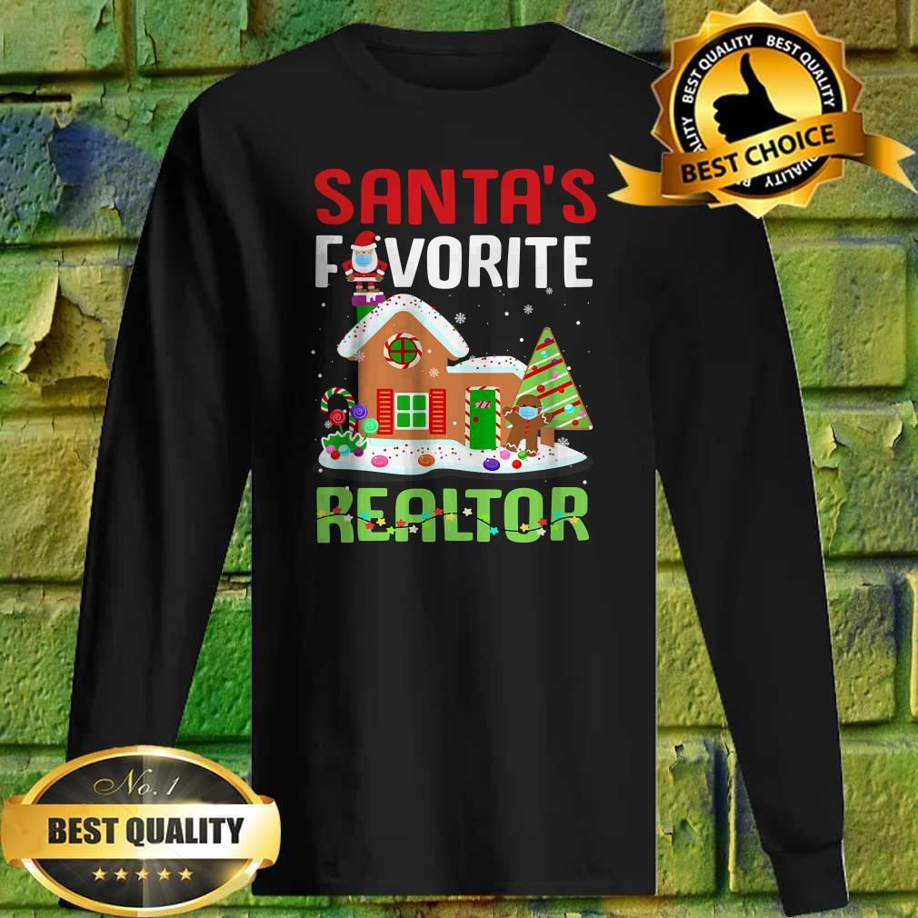 Funny Santa's Favorite Realtor Estate Agent Christmas Gift Sweatshirt