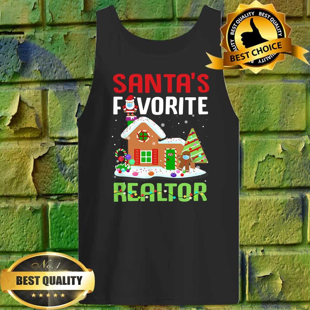Funny Santa's Favorite Realtor Estate Agent Christmas Gift Tank top